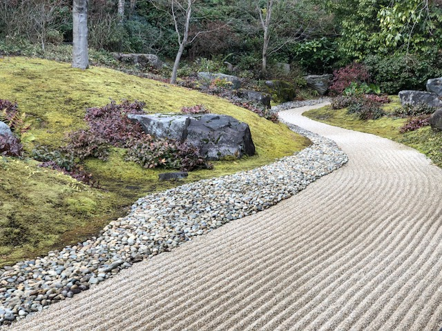 Japanese rock garden, the beauty is in the rock formation